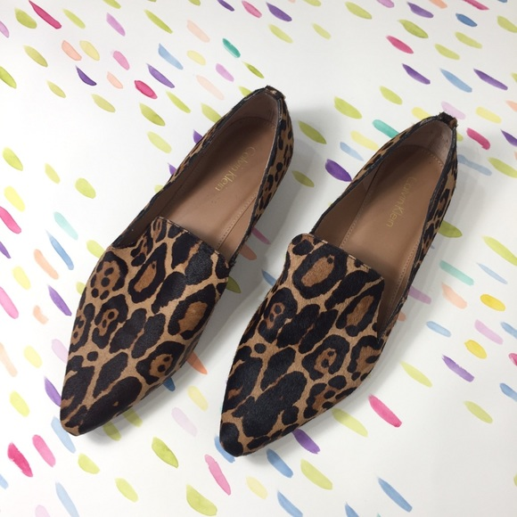 0e56547fc7fa Calvin Klein Shoes - Calvin Klein leopard calf hair loafers pointed toe